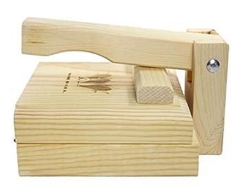 Tortilla Press 7.5 Inch Authentic Traditional Wood Tortilla Maker 2