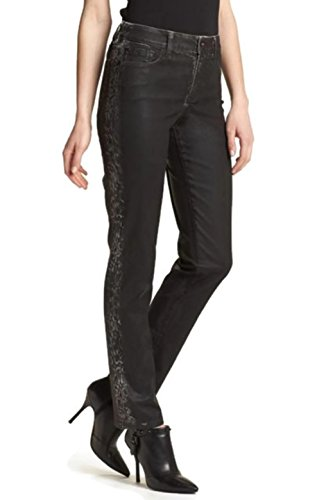 NYDJ Not Your Daughter's Jeans Sheri Printed Side Tuxedo Stripe Coated Skinny Jeans Size 12P -