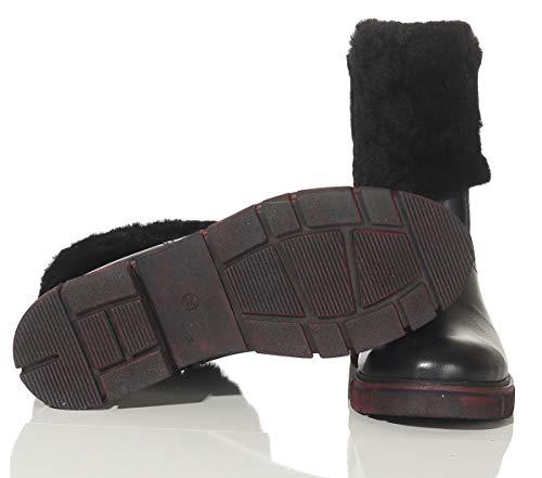 Stivaletti Merino Vero Ht Nero Mod In Pecora Boots Interno Cuoio Finitura Rivestimento Scarpe Di Con Pelle Caldo Div Invernali Hollert Colori Lana Donna 400 Pelliccia BUqWvIxwHS