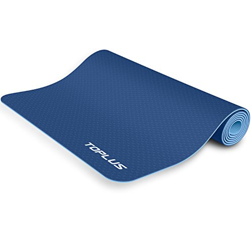 TOPLUS 6mm Premium TPE Yoga Mat With Carrying Strap Eco