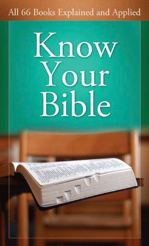 Know Your Bible Explained Applied ebook product image