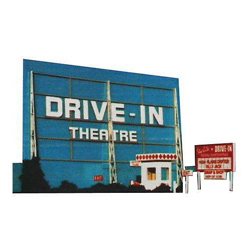 Blair Line HO Scale Kit Laser-Cut Drive-In Theatre