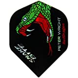 Hardcore Peter Wright Snakebite Dart Flights & Red Dragon Checkout Card