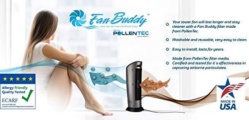PollenTec Fan Compatible with 2551 Curve Fan Filter Fan Longer Pollen Mold Pet Dander Reusable Washable