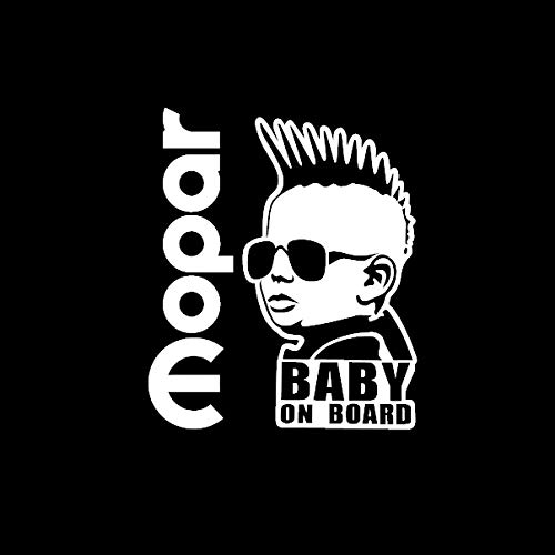 Mopar BABY ON BOARD Decal Sticker with mahawk cool Rear Window car Minivan SUV