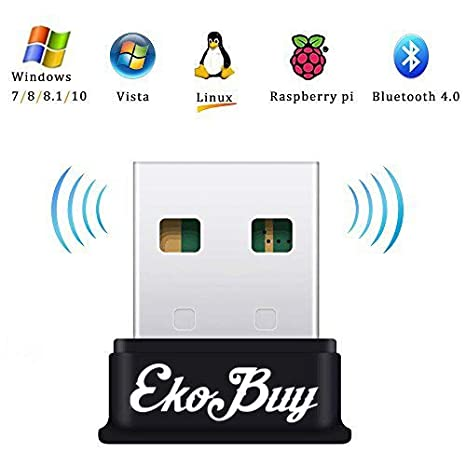 EkoBuy Bluetooth 4.0 USB adaptador dongle para PC, Broadcom Chipset Bluetooth transmisor y receptor para