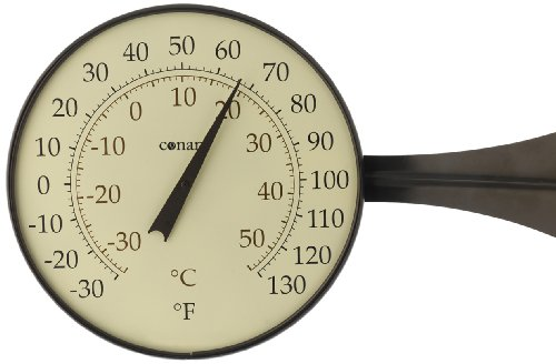 (Conant T10BP Dial Thermometer, Large, Bronze Patina )