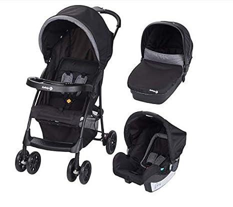 beaba taly 3 en 1 trío Cochecito, carrito con cuna de bebé y Capazo, Sistema Modular, Color Black Chic: Amazon.es: Bebé