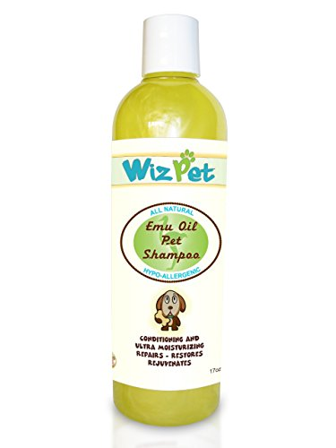 Itchy Dog Shampoo - All Natural Emu Oil Best for Dry, Sensitive and Itching Skin - Pleasant Fresh & Clean Scent - Soap Free Cleanser, Deodorizer and Moisturizer - Softens the Coat - Made in USA