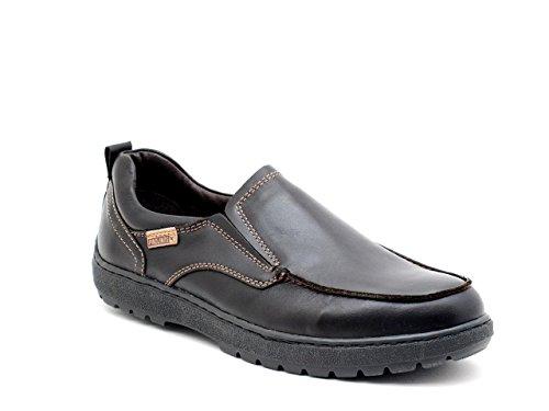 Necked mocassin en cuir noir article 05S-5775