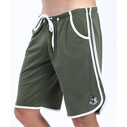Honghu Side-Stripe Swim Boxers Homme Size L Dark Vert