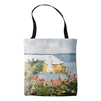 Amazon Com Women S Bermuda Island Flowers Ocean House