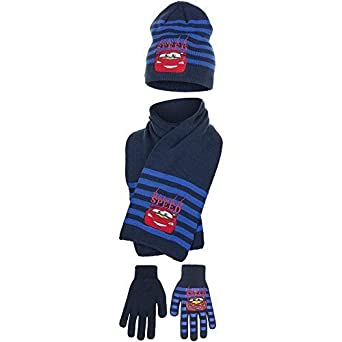 14f532b722e Disney Cars Hat Scarf Gloves Set - Gift Box(54 cm