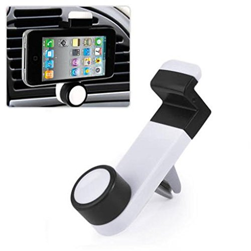 Price comparison product image Car Mount AC Air Vent Holder Rotating Cradle Swivel Dock Strong Hold for T-Mobile Alcatel OneTouch Fierce 2 - T-Mobile Alcatel OneTouch Pop Astro - T-Mobile Blackberry Classic