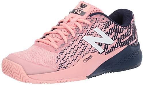 New Balance Women's 996v3 Clay Court Tennis Shoe, Pink/Pigment, 9.5 B US