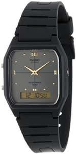 Casio Men's AW48HE-8AV Black Ana-Digi Dual-Time Watch
