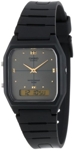 Casio AW48HE 8AV Black Ana Digi Dual Time