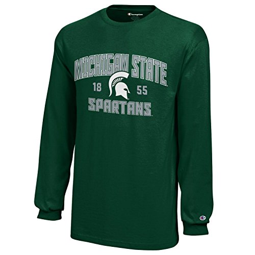 Jersey State Youth Football - NCAA Champion Boy's Long Sleeve Jersey T-Shirt Michigan State Spartans Large