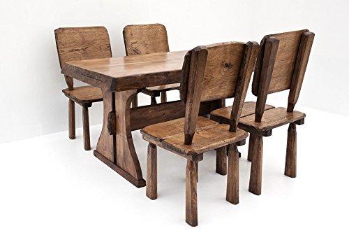 Timberline Sitzgruppe Maxi 150 cm mit Stühlen Outdoor Gartenmöbel, Farbe:Teak;Material:Eiche