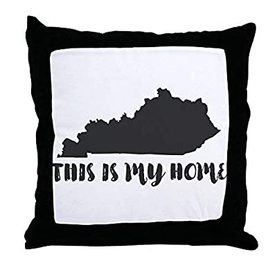 Pattebom Home Decor Kentucky - This is My Home Canvas Pillow Covers 18 x 18 Decorative Farmhosue Decor Throw Pillows with Zip Couch Cushion Covers Funny Gifts