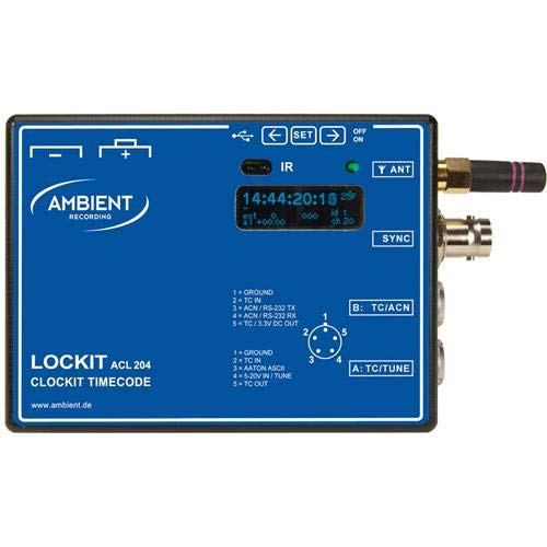 Ambient Recording ACN Lockit Portable Timecode Synchronizer for Video Cameras and Audio - Recording Ambient