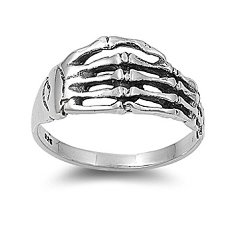 CloseoutWarehouse Skull Hardcore Sterling Silver product image