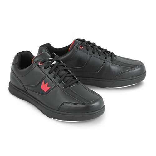 Bowling Shoes Soles (Brunswick Edge Men's Bowling Shoes, Black, 11)