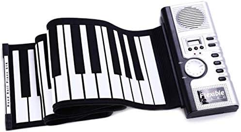 سعر بيانو مرن قابل للطي مزود بـ 61 مفتاحا وبيانو إلكتروني رقمي من السيليكون فى الامارات بواسطة امازون الامارات كان بكام