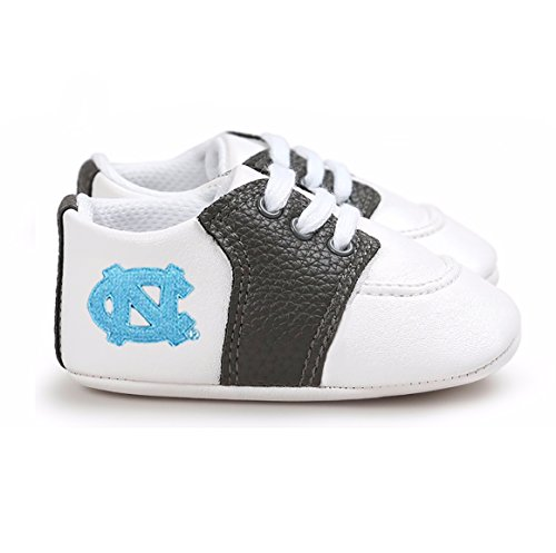 (Future Tailgater North Carolina UNC Tar Heels Pre-Walker Baby Shoes - Black Trim)