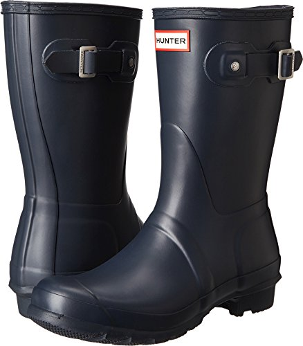Hunter Womens Original Short Navy Matte Rain Boot - 9 B(M) US