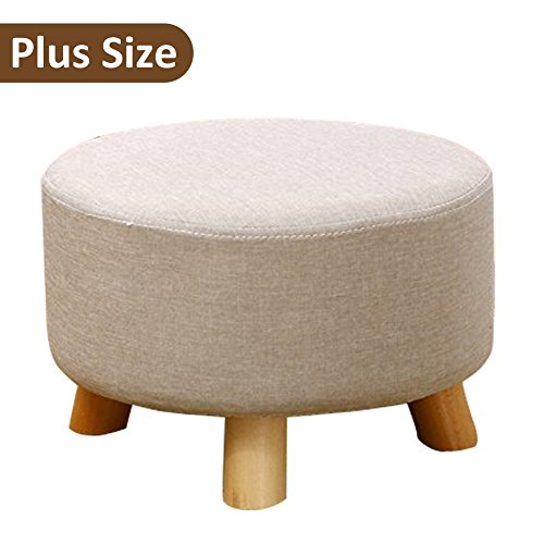 Sino Banyan Padded Soft Ottoman Footrest Stool/Bench,Detachable Cushion,Polar Bear