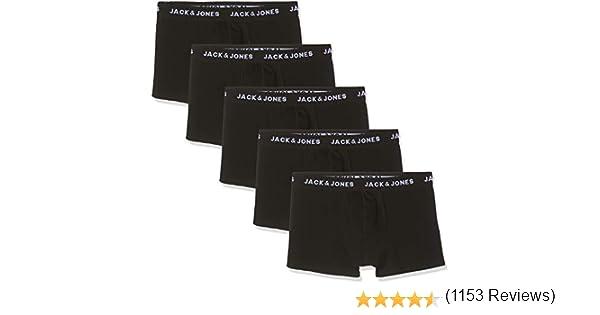 Black Detail: Black /& Black /& Black /& Black Pack de 5 JACK /& JONES Jachuey Trunks 5 Pack Noos B/óxer para Hombre Negro Medium