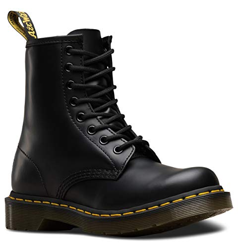 Classic 6 Eye Boot - Dr. Marten's Women's 1460 8-Eye Patent Leather Boots, Black Smooth Leather, 5 F(M) UK / 7 B(M) US Women / 6 D(M) US Men