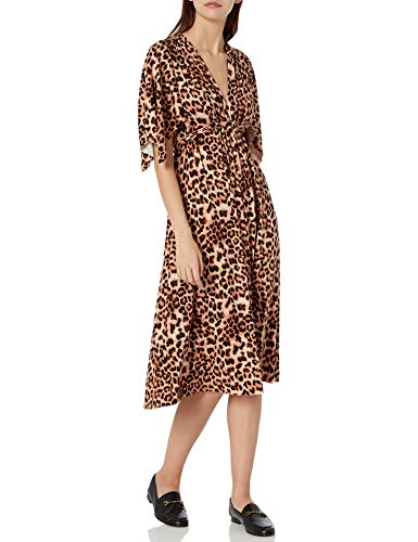 Rachel Pally Women's Jersey MID-Length Caftan Dress, Leopard, S