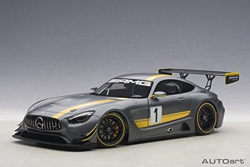 Mercedes-Benz AMG GT3 Presentation Car, Gray - Auto Art 81530 - 1/18 Scale Collectible Diecast Replica