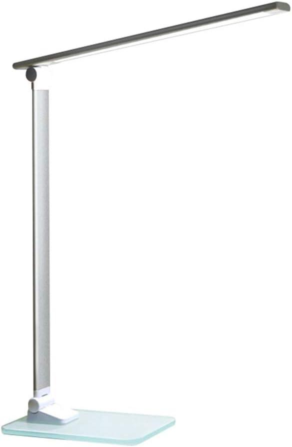SXFYWYM Lámpara de Mesa LED Protección para los Ojos Plegable Moderno Portátil Llevar Lámparas de Fondo de Vidrio Luz de Lectura Iluminación,Blanco,115X100X530MM: Amazon.es: Hogar