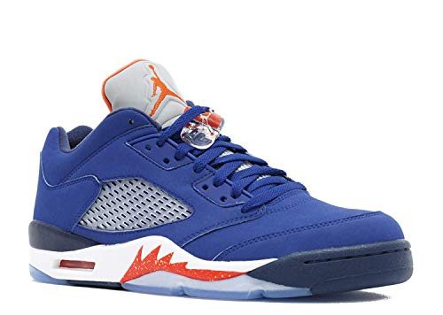 5a55fcdecb21b1 Mens Nike Air Jordan 5 Retro Low Basketball Shoes Royal Blue 819171-417 (11)