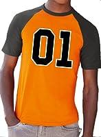 Dukes 01 Car Black and Orange T-Shirt - Baseball Tee