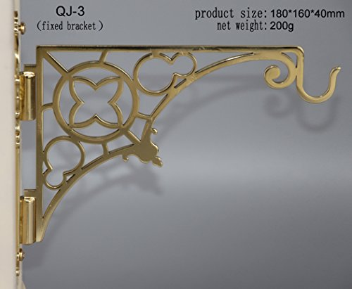 Wall Mounted Brass Bracket for Hanging Vigil Lamp Church Lamp QJ-3. Our Company Have 8 Kinds of Wall Bracket for Church Lamp for Your Choice