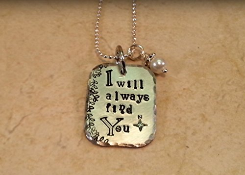 OUAT I Will Always Find You Hand Stamped Silver Aluminum Necklace