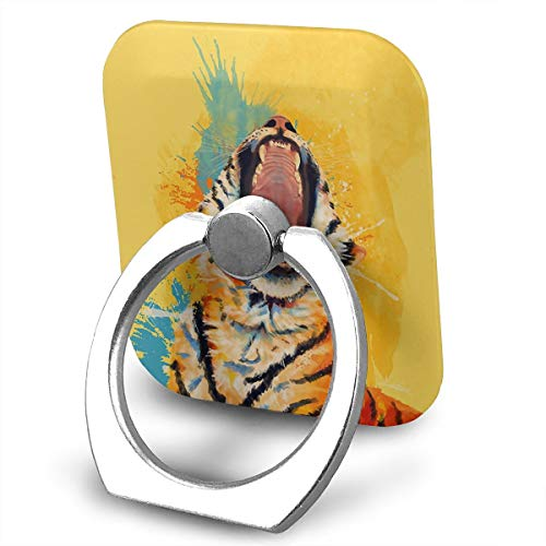 SJWE0 Wild Yawn Tiger Finger Ring Stand,Cellphone Ring Stand Holder, Universal Metal Grip Stand/Kickstand Apply to iPhone X 8 Plus 7 7 Plus /6s 6 Plus/Galaxy S8 Plus ()