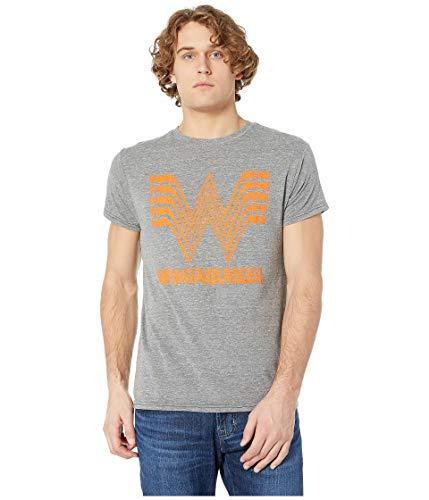 Original Retro Brand The Men's What-A-Burger Vintage Tri-Blend T-Shirt  Streaky Grey XX-Large