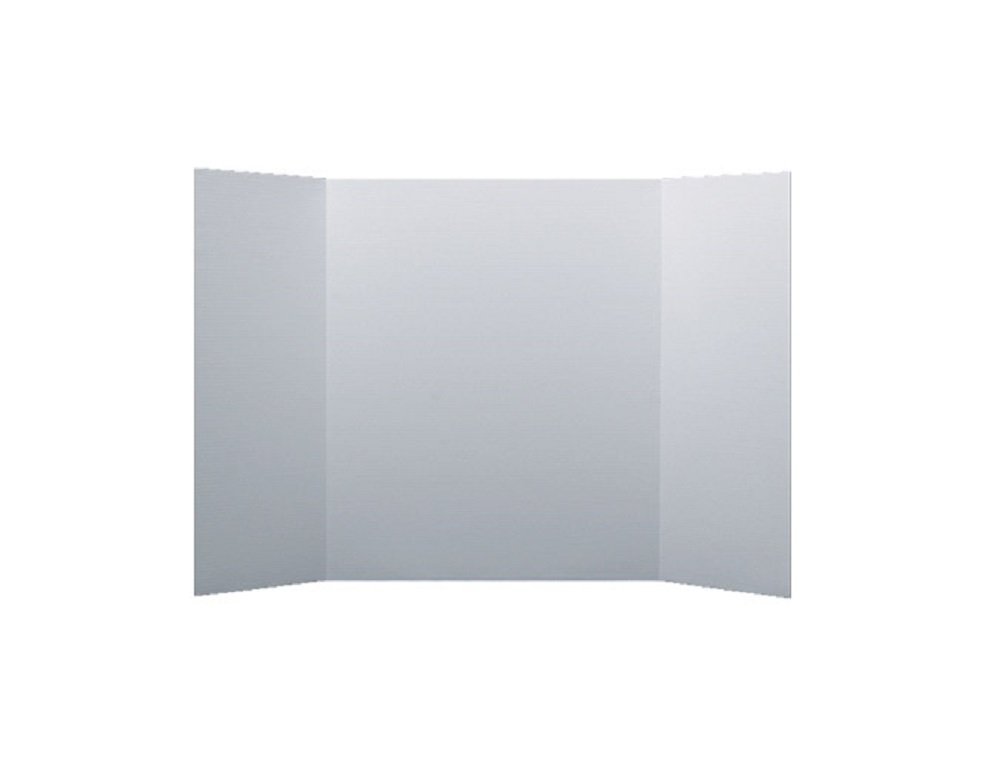 Pack of Corrugated 3-Panel Project Boards (34x48in, White)