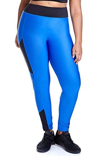 Women's Plus Size Sprinter Color-Block Active Fitness Leggings