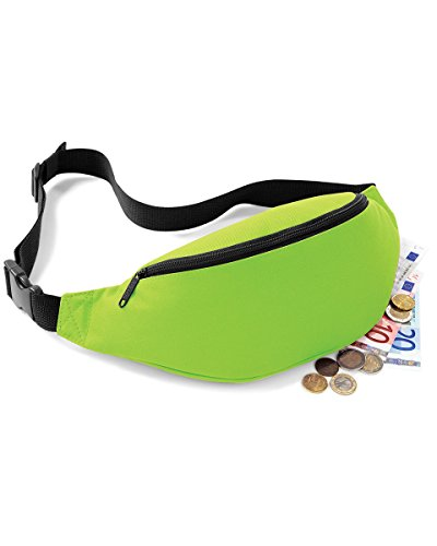 Lime COLOURS 8 BAG BAG BUM BELT BAGBASE GREAT NEW wqpPxn84