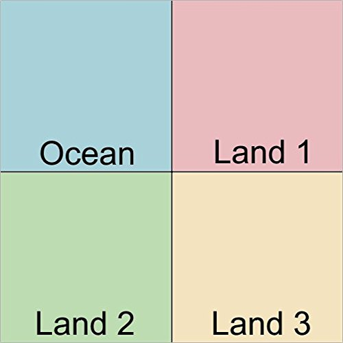 LAMINATED POSTER Map of Could someone make an extremely high-res 4-color Atlantic centered Waterman projection map using these colors? POSTER PRINT 24 X (High Res Colour)