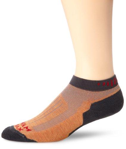 Wigwam Men's Merino Ridge Runner Pro Quarter Socks, Orange, Sock Size:10-13/Shoe Size: 6-12