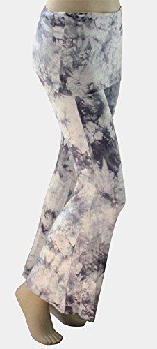Tie Dyed Yoga Pants-Skirted Palazzo Pants with Comfortable Fold Over Waist Skirt WG/XS -