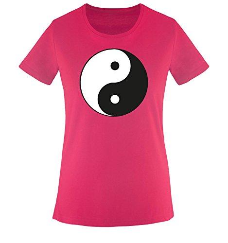bianco Nero xxl Fucsia Yin Taglia Donna Shirts Comedy Maglietta T shirt yang Xs nP7S7wzqv