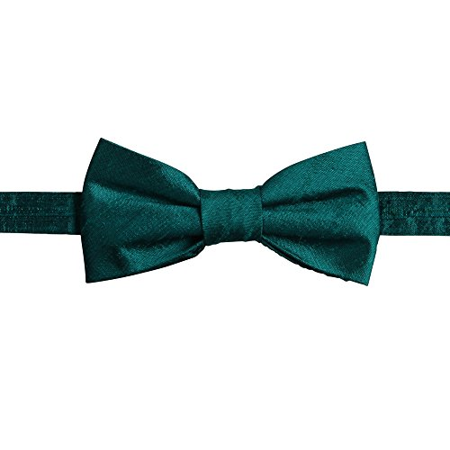 Ivy Lane Design Pre-Tied Silk Dupioni Bow Tie Midnight ()